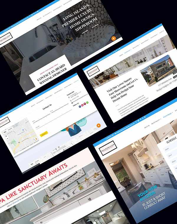 Classic Kitchen & Bath Website Pages Example